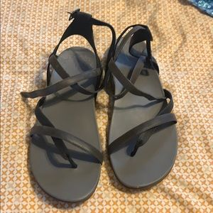 Chaco Juniper leather sandals in black